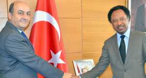 Ambassador of Turkey to Nigeria, Hakan Cakil with Sen. Shehu Sanni