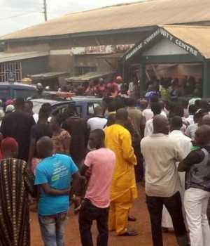 Scene at the Kumasi stampede