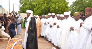 Fidau prayers being offered for the late Umaru Shinkafi