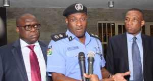 L-R: Attorney General & Commissioner for Justice, Mr. Adeniji Kazeem; State Commissioner of Police, Mr. Fatai Owoseni; Secretary to the State Government, Mr. Tunji Bello