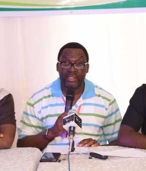 Lagos State Commissioner for Information & Strategy, Mr. Steve Ayorinde (middle); Commissioner for Economic Planning & Budget, Mr. Akinyemi Ashade (right) and Permanent Secretary, Ministry of Information & Strategy, Mr. Fola Adeyemi, jointly addressing journalists during the closing of State Executive Council and Body of Permanent Secretaries Retreat, with the theme Reflect, Reappraise, Restrategise…Raising the Bar of Governance at the V.I.P Chalet, Badagry, Lagos