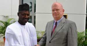 EFCC Chairman, Ibrahim Magu and United States Ambassador to Nigeria, His Excellency James Entwistle