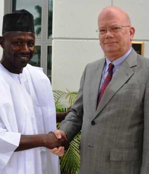 EFCC Chairman, Ibrahim Magu and United States Ambassador to Nigeria, His Excellency James Entwistle