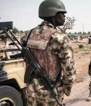 Nigerian soldiers are fighting Boko Haram militants in north-east Nigeria.