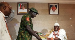 COAS Buratai with The Olu of Warri, Godfrey Ikenwoli Emiko,