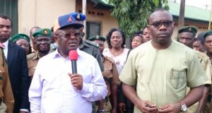 Gov. Dave-Umahi of Ebonyi State and Comptroller General of Nigerian Prison Service