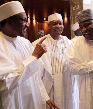 President Buhari, Saraki and Speaker Yakubu Dogara