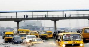 Flooded Lagos road