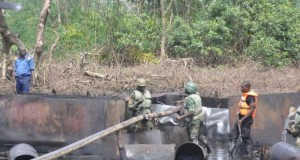 Nigerian Navy destroys illegal refinery