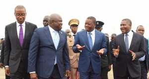 Lagos State Governor, Akinwunmi Ambode (2nd right), with President of Togo, Mr. Faure Gnassingbe; Minister of Trade, Investment & Industry, Mr. Okechukwu Enelamah and President, Dangote Group, Alhaji Aliko Dangote during the visit of the Togolese President to the Dangote Refinery at the Lekki Free Trade Zone, Lekki, Lagos, on Tuesday,