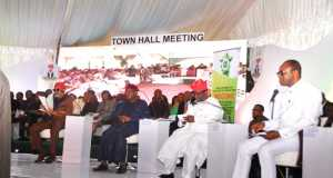 Cross section of the ministers at the Town Hall meeting