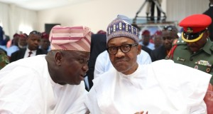 Gov. Akinwunmi Ambode-and-President Muhammadu Buhari