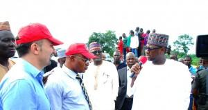 Gov. Sani Bello of Niger State addressing contractors of the Minna-Suleja Highway