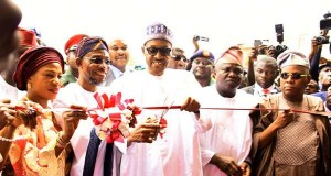 President Buhari commissioning the Osogbo Mega School