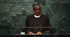 Buhari speaking at the UNGA