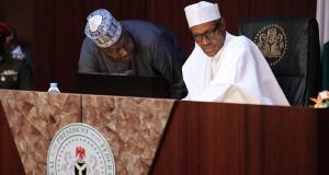 President Buhari presiding at the Council of State Meeting