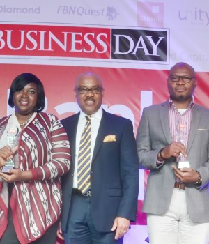 Left to right: Oze K. Oze, Head, Publications & Conferences, FirstBank; Obianuju Akanbi, Corporate Responsibility and Sustainability, FirstBank, U.K Eke (MFR), GMD/CEO, FBN Holdings Plc; Babatunde Lasaki, Head, Media and External Relations, FirstBank; and Laura Fisayo-Kolawole, Vice President, Asset Management, FBNCapital Asset Management.