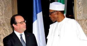 Francois Hollande of France and President Muhammad Buhari