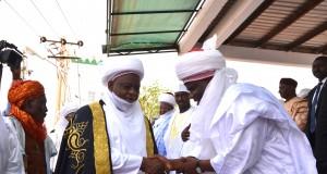 Gov. Aminu Tambuwal receiving Sallah Homage in Sokoto