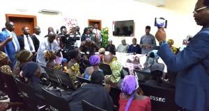 Vice President Yemi Osinbajo addressing the released Chibok Schoolgirls