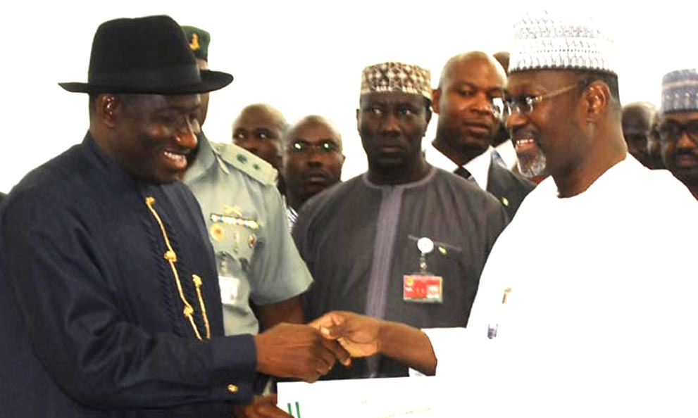 Image result for  Jega and Former President Jonathan