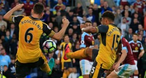 Arsenal's winner was controversial, with a possible handball and a hint of offside by Koscielny