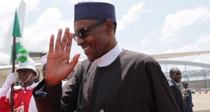 President Buhari on his way out of Abuja