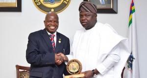 CIBN boss, Prof. Agbaje and Gov. Ambode