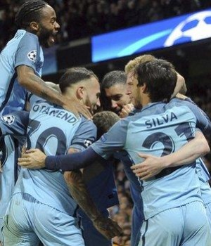 Man City-celebrate emphatic win over Barcelona