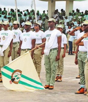 NYSC members on parade
