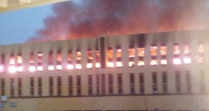 Yabatech hostel on fire