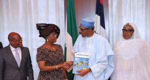 President Buhari and Gulf of Guinea Commission, Ambassador (Mrs) Florentina Adenike Ukonga, others