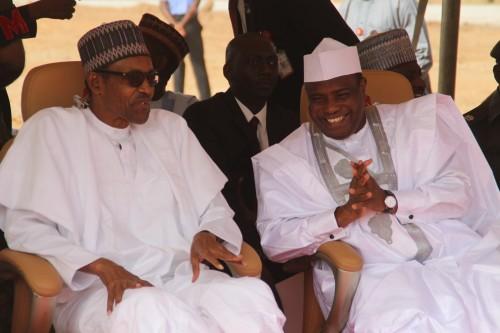 President Buhari and Aminu Tambuwal, Sokoto State