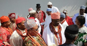 Niger Delta elders during a meeting with President Buhari