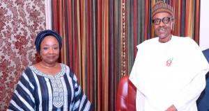Barrister Sharon Ikeazor and Buhari