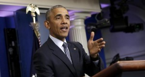 U.S. President Obama holds news conference at the White House in Washington