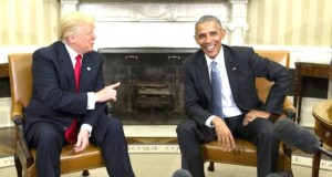 Trump-and-Obama meeting in the White House