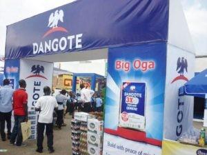 Dangote Group stand at Lagos International Trade Fair