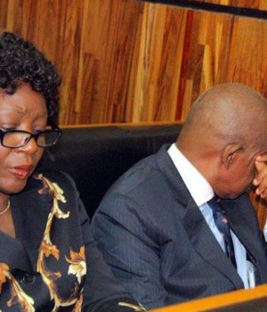 Justice Ademola and wife in court