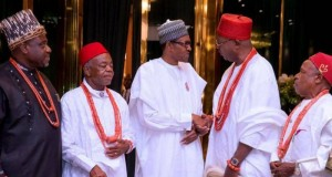 Buhari and S' East traditional rulers