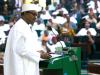 President Buhari presenting the 2017 Budget