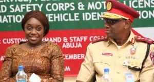 Finance Minister, Adeosun and FRSC boss, Oyeyemi