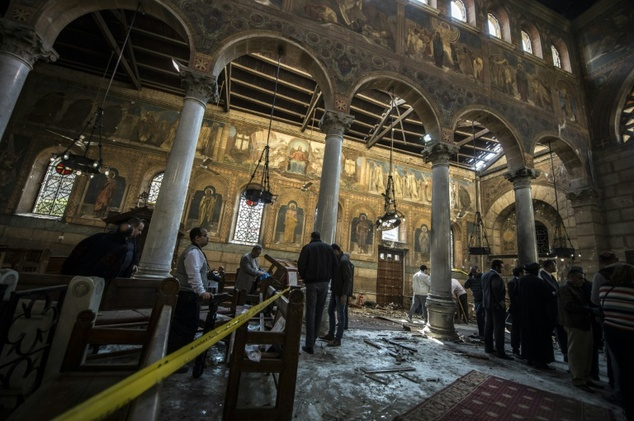 Egypt arrests four over deadly church bombing