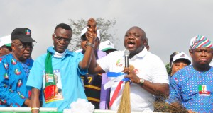Ambode at a House of Reps by-election campaign