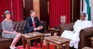 New U.S envoy, William Stuart Symington, and Buhari