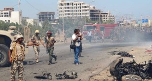 A scene from Yemen suicide attack