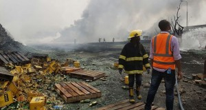 Burnt NB Plc office in Lagos
