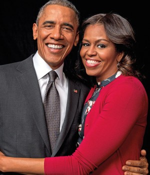 Barrack and Michelle Obama