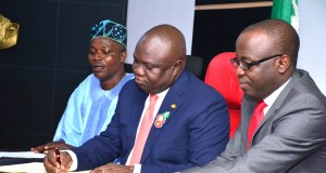 Gov. Ambode signing the 2017 Appropriation Bill