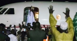 Jammeh jetting out